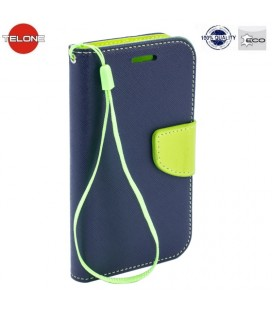 """Mėlynas atverčiamas dėklas Huawei P Smart telefonui """"Telone Fancy"""""""