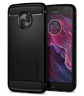 """Juodas dėklas Motorola Moto X4 telefonui """"Spigen Rugged Armor"""""""