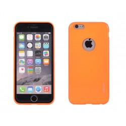 "Oranžinis plonas 0,3mm dėklas Apple iPhone 5 telefonui ""Fluorescent"""