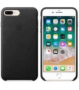 """Juodas odinis dėklas Apple iPhone 7 Plus / 8 Plus telefonui """"Leather Case"""""""
