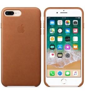"""Rudas odinis dėklas Apple iPhone 7 Plus / 8 Plus telefonui """"Leather Case"""""""