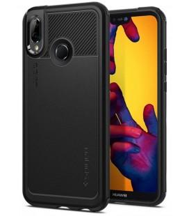 """Juodas dėklas Huawei P20 Lite telefonui """"Spigen Marked Armor"""""""