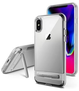 """Sidabrinės spalvos silikoninis dėklas Apple iPhone X telefonui """"Mercury Goospery Dream Bumper"""""""