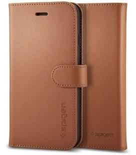 """Rudas atverčiamas dėklas Apple iPhone 7 Plus / 8 Plus telefonui """"Spigen Wallet S"""""""