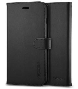 """Juodas atverčiamas dėklas Apple iPhone 7 Plus / 8 Plus telefonui """"Spigen Wallet S"""""""
