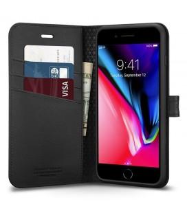 """Atverčiamas juodas dėklas Huawei P Smart telefonui """"Nillkin Sparkle"""""""