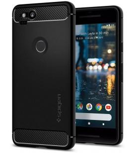 "Juodas dėklas Google Pixel 2 telefonui ""Spigen Rugged Armor"""