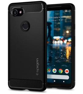 "Juodas dėklas Google Pixel 2 XL telefonui ""Spigen Rugged Armor"""