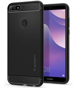"""Juodas dėklas Huawei Y7 Prime 2018 telefonui """"Spigen Rugged Armor"""""""
