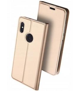 """Auksinės spalvos atverčiamas dėklas Xiaomi Redmi Note 5 telefonui """"Dux Ducis Skin"""""""