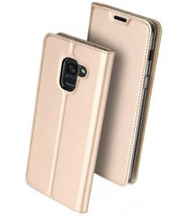 """Auksinės spalvos atverčiamas dėklas Samsung Galaxy J6 2018 telefonui """"Dux Ducis Skin"""""""