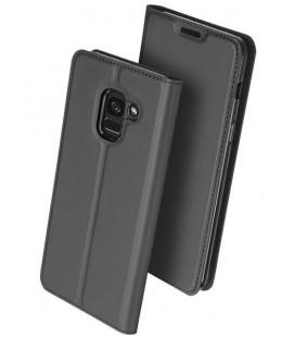 """Pilkas atverčiamas dėklas Samsung Galaxy J6 2018 telefonui """"Dux Ducis Skin"""""""