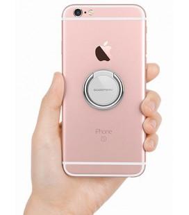 """Sidabrinės spalvos universalus telefono laikiklis ant piršto - žiedas """"Mercury Ring"""""""