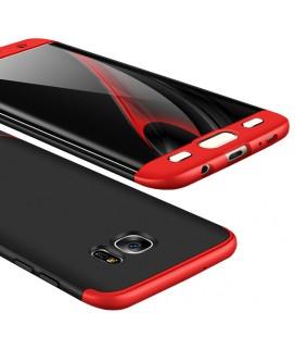 """Juodas/raudonas dėklas Samsung Galaxy S7 Edge telefonui """"360"""""""
