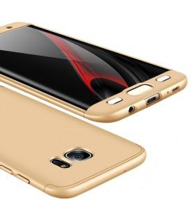 """Auksinės spalvos dėklas Samsung Galaxy S7 Edge telefonui """"360"""""""