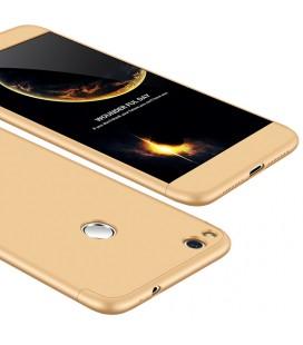 """Auksinės spalvos dėklas Huawei P8/P9 Lite 2017 telefonui """"360"""""""