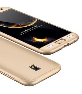 """Auksinės spalvos dėklas Samsung Galaxy J7 2017 telefonui """"360"""""""