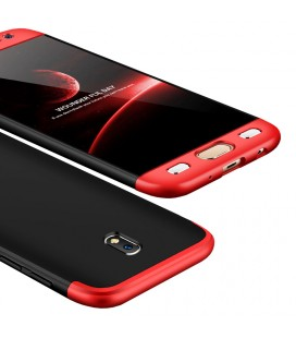 """Juodas/raudonas dėklas Samsung Galaxy J3 2017 telefonui """"360"""""""