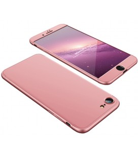"""Rausvai auksinės spalvos dėklas Apple iPhone 7 telefonui """"360"""""""