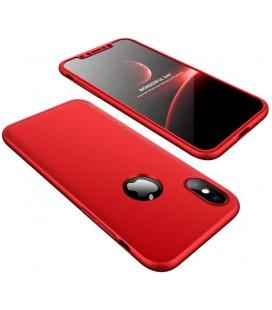 """Raudonas dėklas Apple iPhone X telefonui """"360"""""""