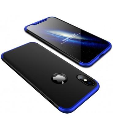 """Juodas/mėlynas dėklas Apple iPhone X telefonui """"360"""""""