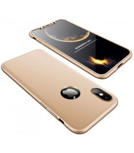 """Auksinės spalvos dėklas Apple iPhone X telefonui """"360"""""""