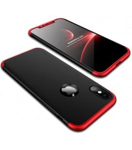 """Juodas/raudonas dėklas Apple iPhone X telefonui """"360"""""""