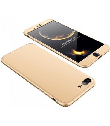 """Auksinės spalvos dėklas Apple iPhone 7 Plus / 8 Plus telefonui """"360"""""""