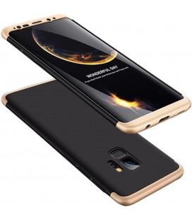 """Juodas/auksinės spalvos dėklas Samsung Galaxy S9 telefonui """"360"""""""