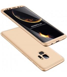 """Auksinės spalvos dėklas Samsung Galaxy S9 telefonui """"360"""""""
