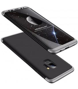 """Juodas/sidabrinės spalvos dėklas Samsung Galaxy S9 telefonui """"360"""""""