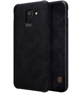 """Odinis juodas atverčiamas dėklas Samsung Galaxy J6 2018 telefonui """"Nillkin Qin"""""""