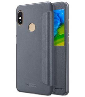 """Atverčiamas pilkas dėklas Xiaomi Redmi Note 5 telefonui """"Nillkin Sparkle S-View"""""""