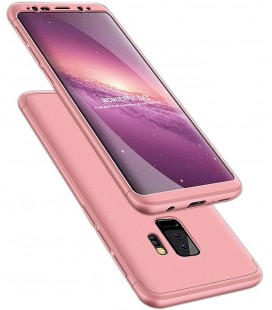 """Rausvai auksinės spalvos dėklas Samsung Galaxy S9 Plus telefonui """"360"""""""