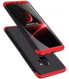 """Juodas/raudonas dėklas Samsung Galaxy S9 Plus telefonui """"360"""""""