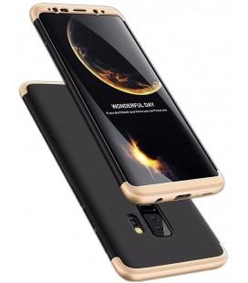 """Juodas/auksinės spalvos dėklas Samsung Galaxy S9 Plus telefonui """"360"""""""
