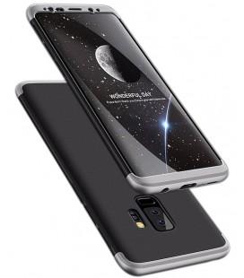 """Juodas/sidabrinės spalvos dėklas Samsung Galaxy S9 Plus telefonui """"360"""""""