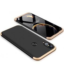 """Juodas/auksinės spalvos dėklas Huawei P20 Lite telefonui """"360"""""""