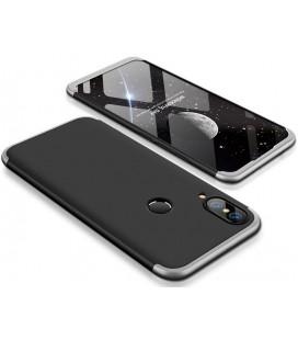 """Juodas/sidabrinės spalvos dėklas Huawei P20 Lite telefonui """"360"""""""