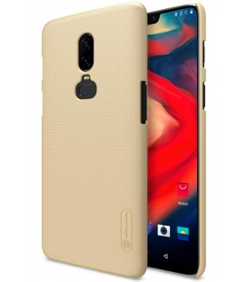 """Auksinės spalvos dėklas Oneplus 6 telefonui """"Nillkin Frosted Shield"""""""