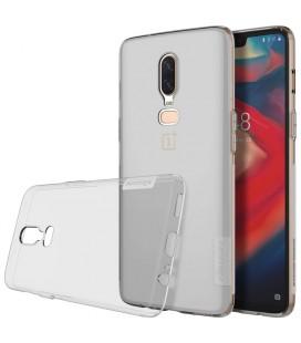"""Pilkas silikoninis dėklas OnePlus 6 telefonui """"Nillkin Nature"""""""