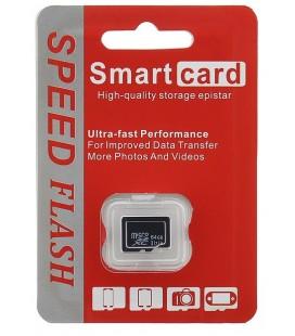 """Atminties kortelė MicroSD SDXC 64GB Class 10 """"Smart Card"""""""