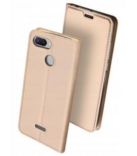 """Auksinės spalvos atverčiamas dėklas Xiaomi Redmi 6 telefonui """"Dux Ducis Skin"""""""