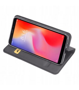"""Rausvai auksinės spalvos atverčiamas dėklas Samsung Galaxy J3 2017 telefonui """"Dux Ducis Skin"""""""