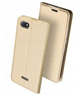 """Auksinės spalvos atverčiamas dėklas Xiaomi Redmi 6A telefonui """"Dux Ducis Skin"""""""
