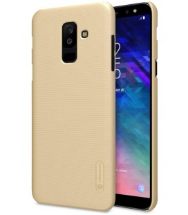 """Auksinės spalvos dėklas Samsung Galaxy A6 Plus 2018 telefonui """"Nillkin Frosted Shield"""""""