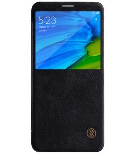 """Odinis juodas atverčiamas dėklas Xiaomi Redmi Note 5 telefonui """"Nillkin Qin S-View"""""""