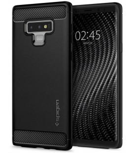 """Matinis juodas dėklas Samsung Galaxy Note 9 telefonui """"Spigen Rugged Armor"""""""