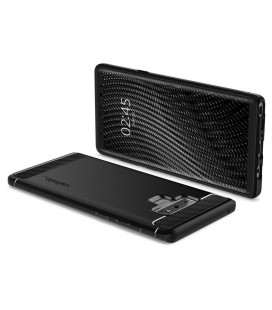"""Juodas atverčiamas Carbon dėklas Samsung Galaxy J7 2017 telefonui """"Book Vennus Carbon Z"""""""