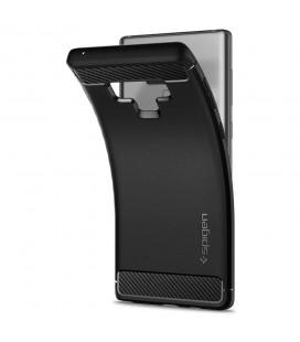 """Juodas atverčiamas Carbon dėklas Samsung Galaxy Note 8 telefonui """"Book Vennus Carbon Z"""""""